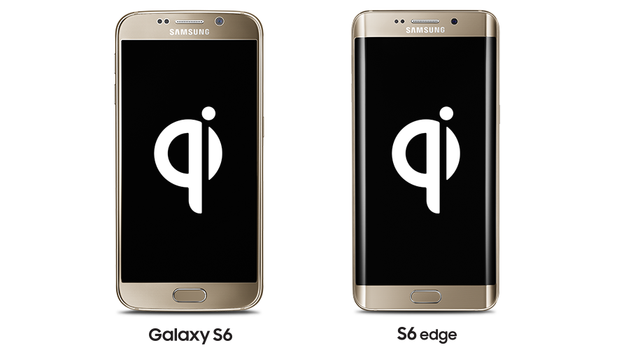 Samsung Galaxy S6 and S6 edge with Qi Wireless Charging built-in